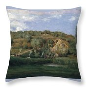 A French Homestead Throw Pillow