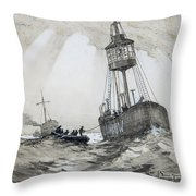 A Lightship's Xmas Dinner Throw Pillow