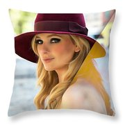 Abigail Breslin Collection Throw Pillow
