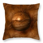 Abstract Brown Globe Throw Pillow