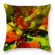 Abstract Landscape, Fall Theme Throw Pillow