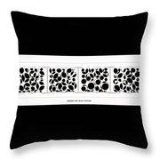 Abstract Monochrome Throw Pillow