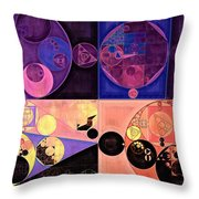 Abstract Painting - Seal Brown Throw Pillow