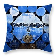 Abstract Painting - Yale Blue Throw Pillow