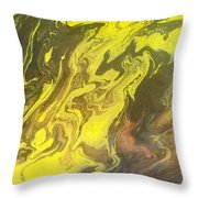 Abstract Pour  Throw Pillow
