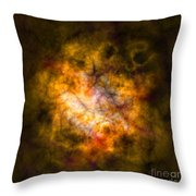 Abstract Stars Nebula Throw Pillow