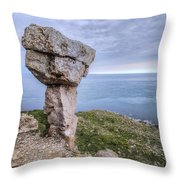 Adhelm's Head - England Throw Pillow