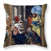Adoration Of Magi Throw Pillow