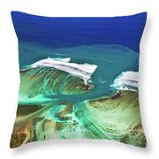 Aerial View Of The Underwater Channel. Mauritius Throw Pillow