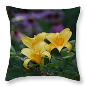 3 Against Many Throw Pillow