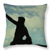 Against The Sky Throw Pillow