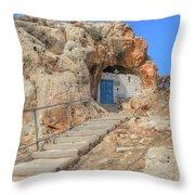 Agioi Saranta Cave Church - Cyprus Throw Pillow