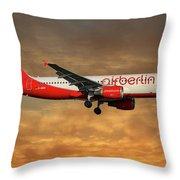 Air Berlin Airbus A320-214 Throw Pillow