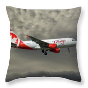Air Canada Rouge Airbus A319-114 Throw Pillow