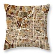 Albuquerque New Mexico City Street Map Throw Pillow