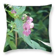 Alpine Wildflower Throw Pillow