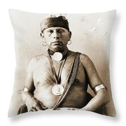 American Indian Chief Throw Pillow