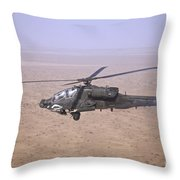 An Ah-64d Apache Longbow Fires A Hydra Throw Pillow