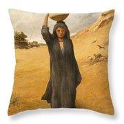 An Arab Girl Throw Pillow