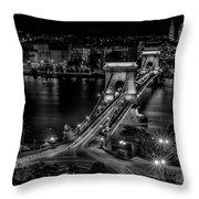 An Evening In Budapest Throw Pillow