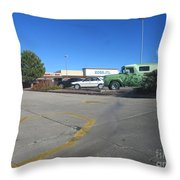 Antique Panel Van Throw Pillow