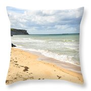 Arromanches Beach Throw Pillow