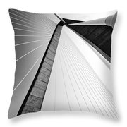 Arthur Ravenel Jr Bridge Charleston Sc Cooper River Throw Pillow