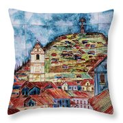 Artisan Market In Quito Throw Pillow