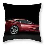 Aston Martin One-77 Throw Pillow