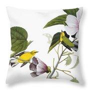 Audubon Warbler Throw Pillow
