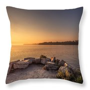 Sunrise At Sibbald Point Throw Pillow