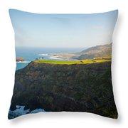 Azores Coastal Landscape Throw Pillow