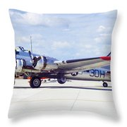B-17 Bomber 5 Throw Pillow
