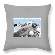 B-17g Flying Fortress Sentimental Journey 2 Avra Valley Arizona 1991 Color Added 2008 Throw Pillow