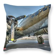 B17 Flying Fortress On The Ramp At Livermore Throw Pillow
