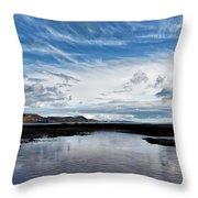 Back Beach 2 - Lyme Regis Throw Pillow