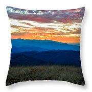 Bald Mountain Sunset Throw Pillow