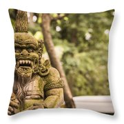 Bali Sculptures Throw Pillow