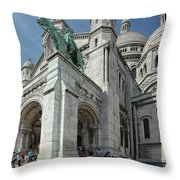 Basilica Du Sacre-coeur De Montmartre Throw Pillow