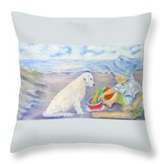 Beach Boy Throw Pillow