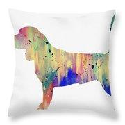 Beagle-colorful Throw Pillow