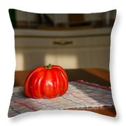 Beef Heart Tomato Throw Pillow