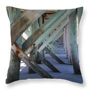 Beneath The Docks Throw Pillow