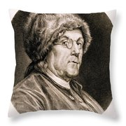 Benjamin Franklin, American Polymath Throw Pillow