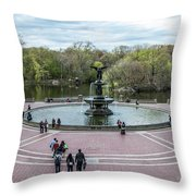 Bethesda Fountain Throw Pillow