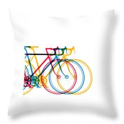 Bike Art Throw Pillow
