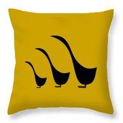 3 Birds  Throw Pillow