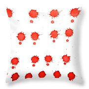 Blood Droplet Throw Pillow