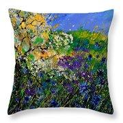 Blue Cornflowers  Throw Pillow