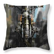Bmw Motorcycle Throw Pillow